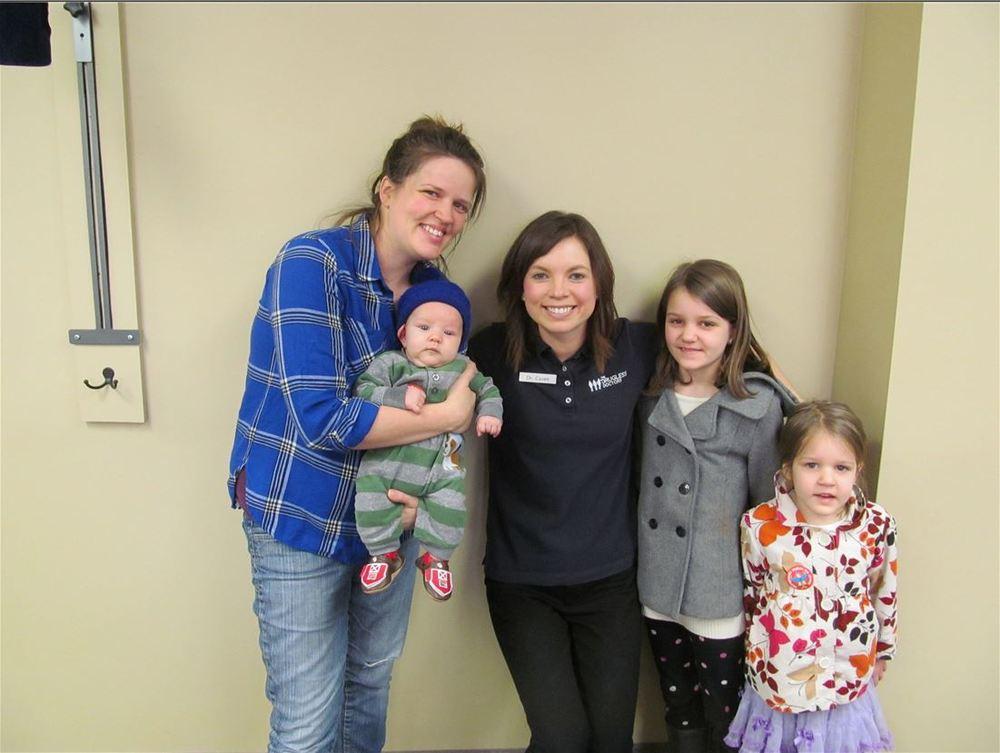 Jess, kids, & Dr. Casen