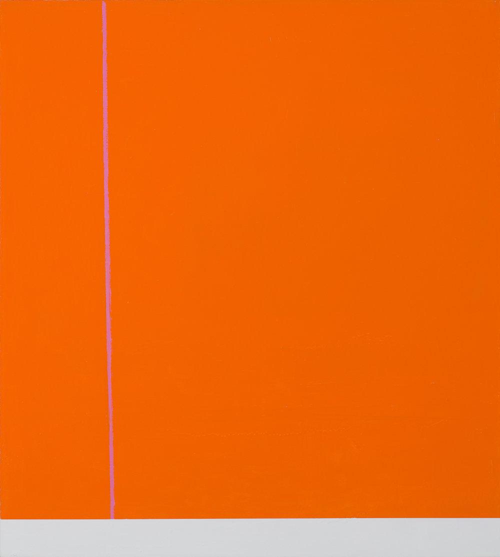 Orange with Pink Line
