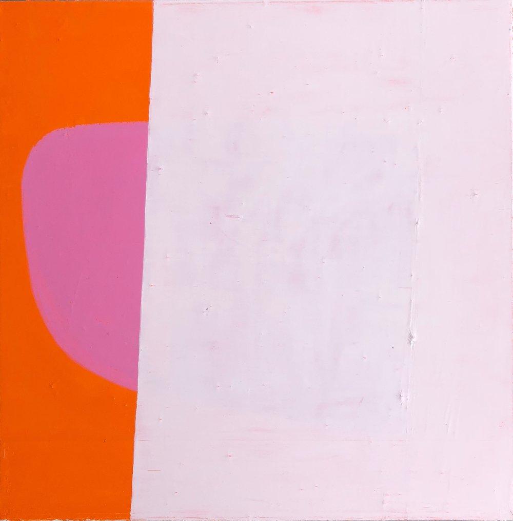 Orange with Pink Line Study