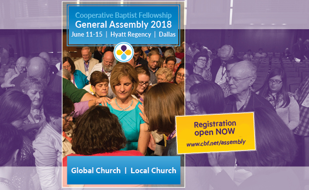 Join us in Dallas for the General Assembly - Our State Meeting will be Thursday, June 14 at 3pm. Click here for more information and to register for the General Assembly: www.cbf.net/assembly
