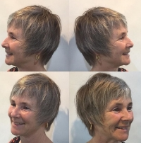 Razor cut with lots of ease and flexibility.