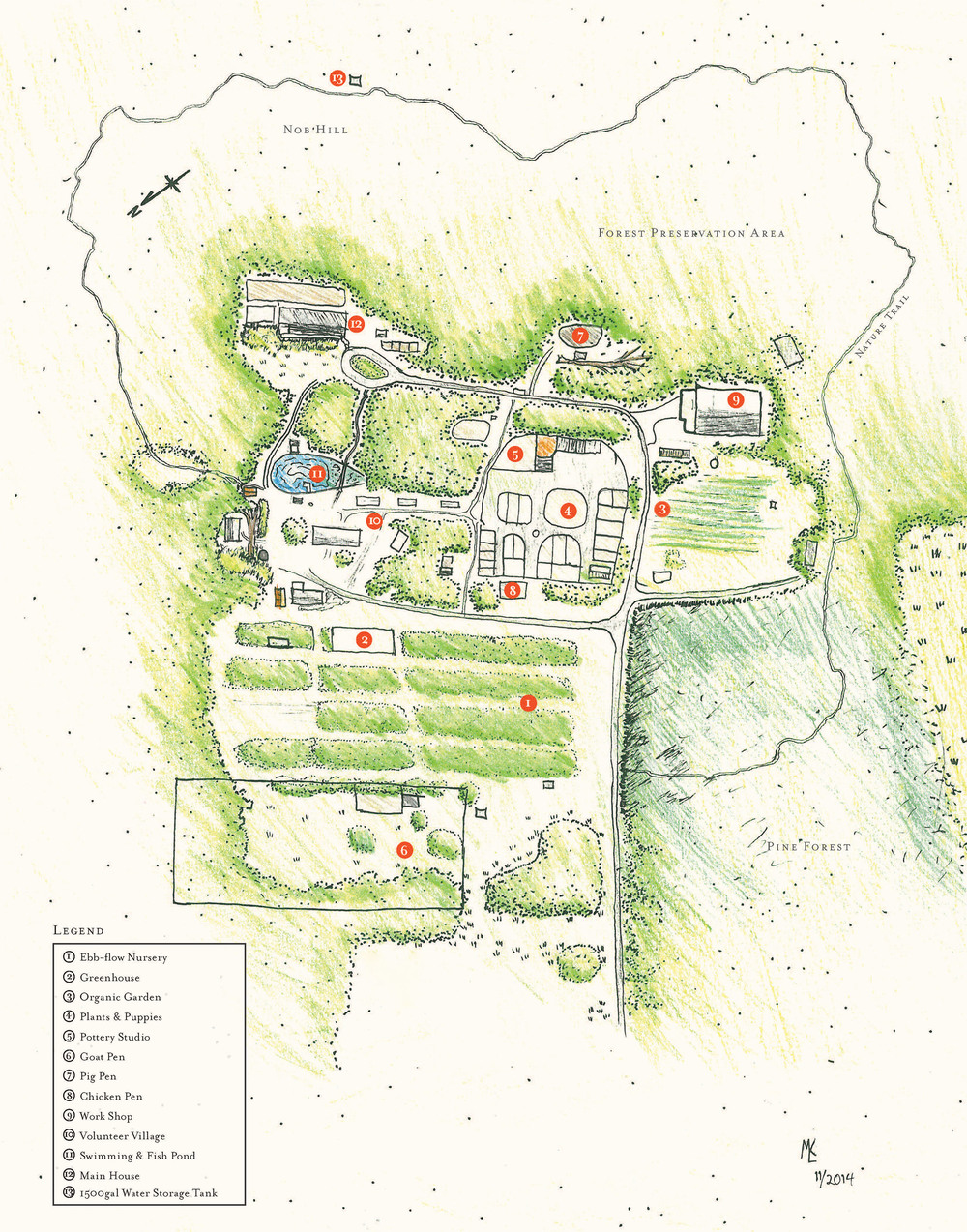 Map of the Farm.