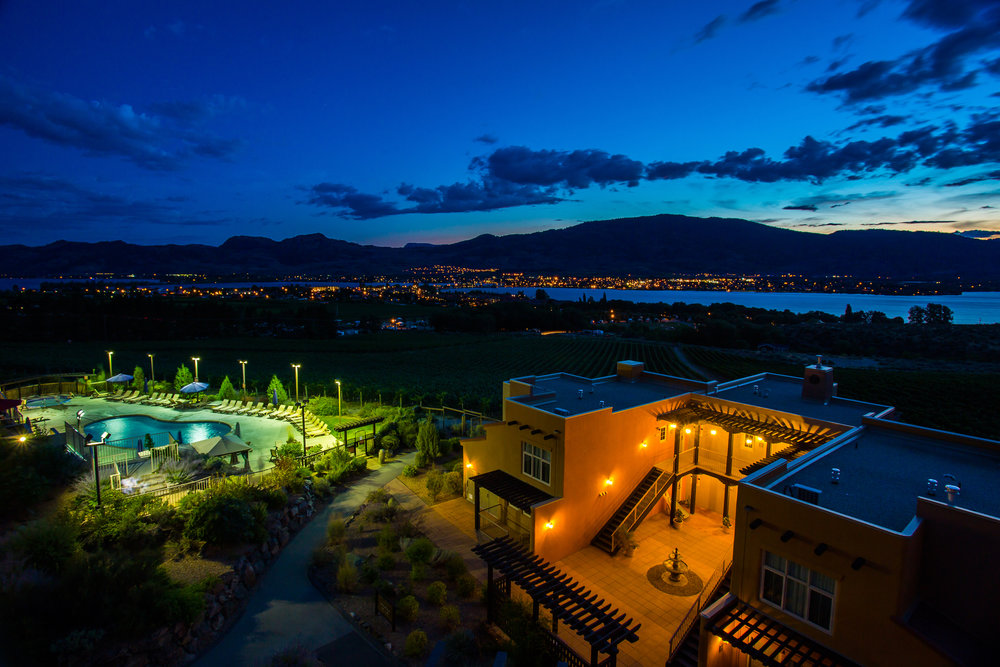 Dusk view of Villas with Quiet Pool + Lake-Mtn View.jpg