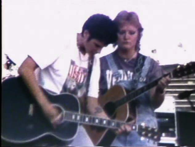 "When the Indigo Girls opened for the Grateful Dead in Eugene, Oregon, filmmakers Natasha Maidoff, Sara May and Jilann Spitzmiller were invited with full access to the band.  ""Chickenman,"" was shot on 16mm and Super 8, and released on Watershed: 10 Years of Underground Video. RT: 3:22."