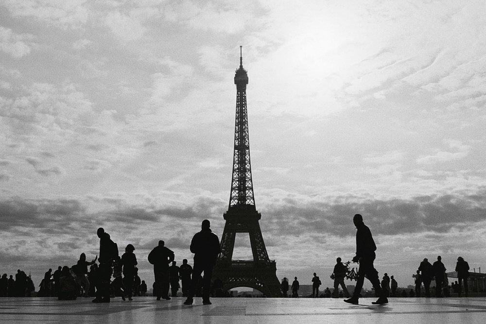 Tour Eiffel in black and white