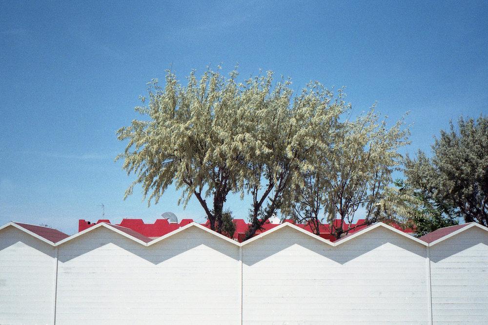 Beach huts in Lido di Spina