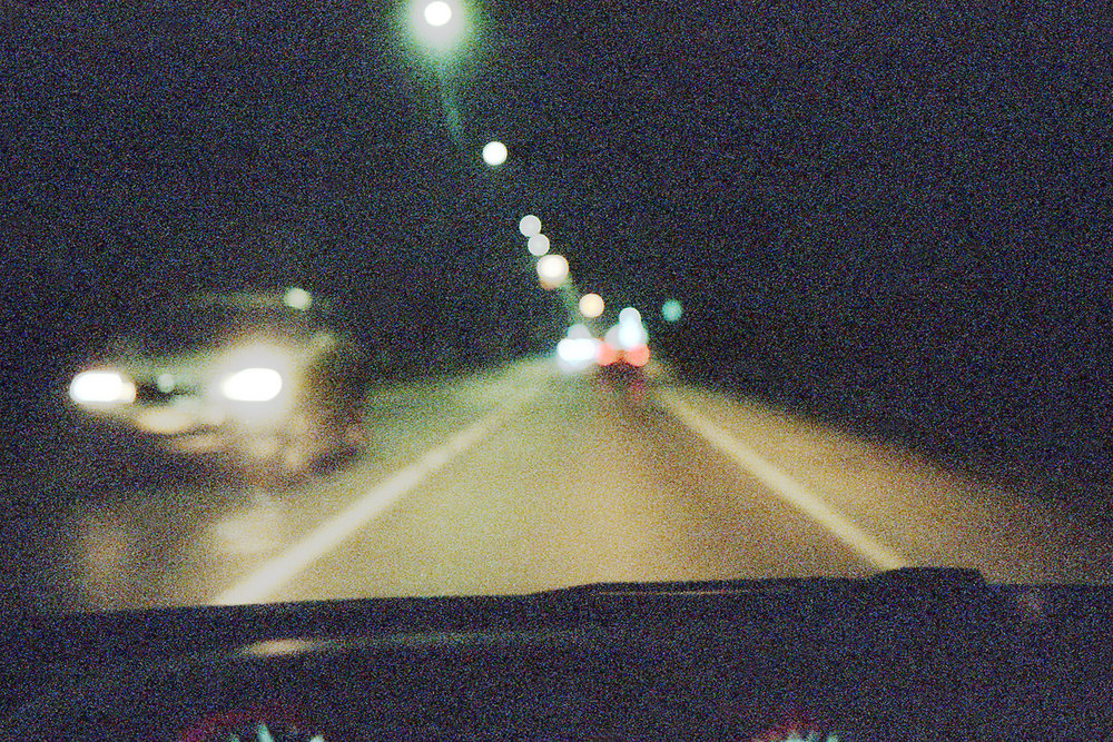 City lights driving