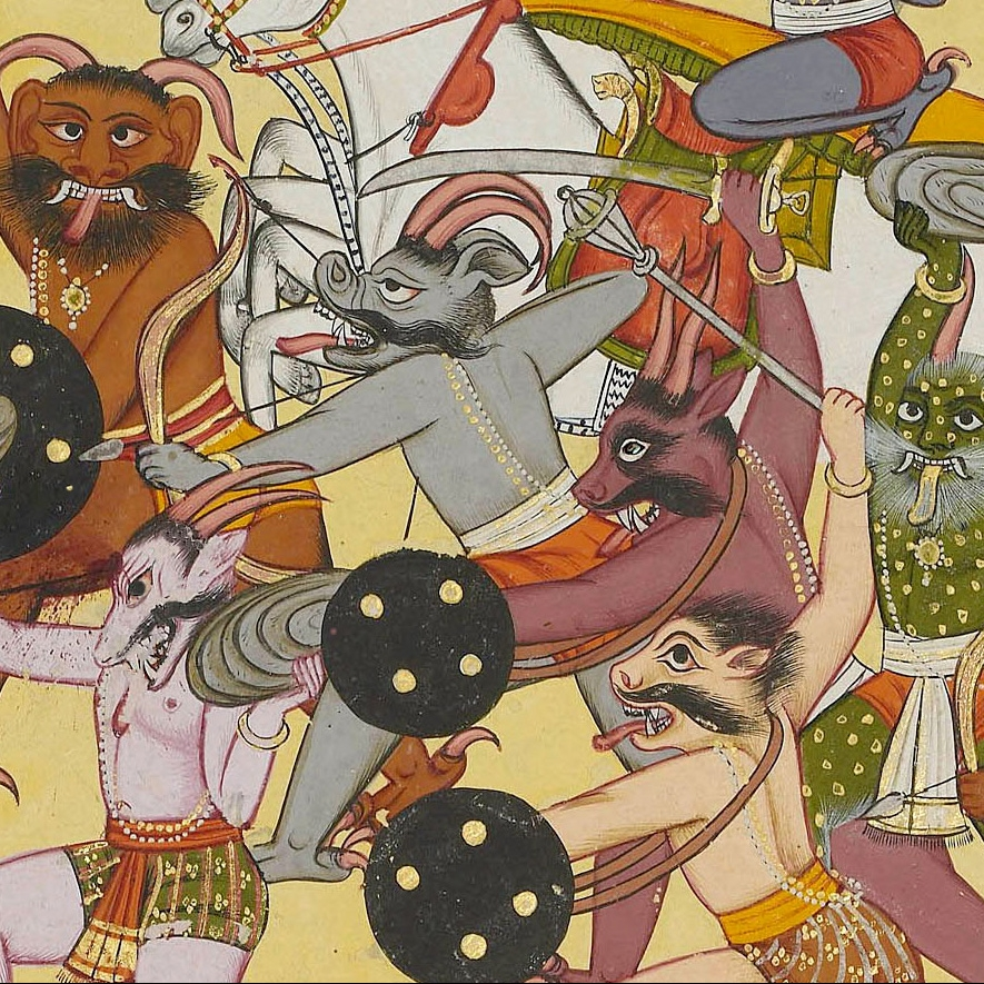 Illustration from the Shangri Ramayana, style IV (detail)