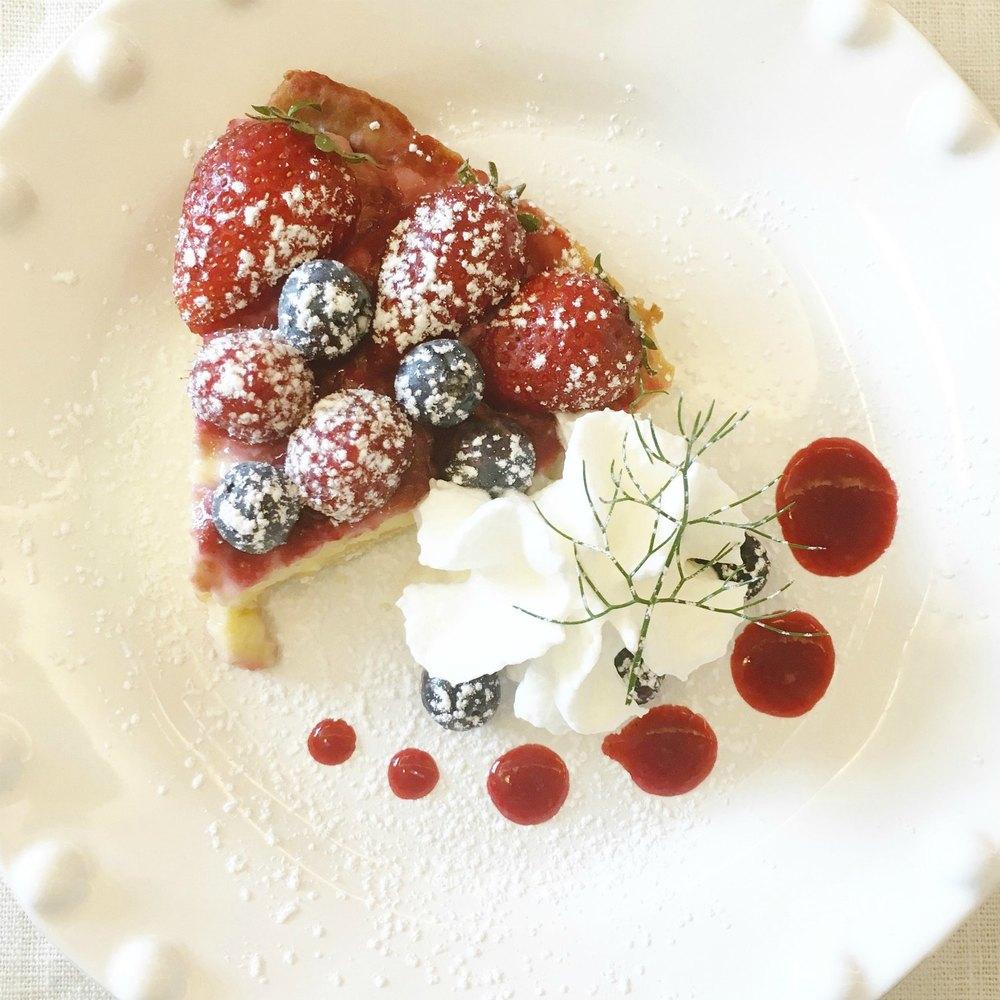 Berry and Lemon Tart in Positano