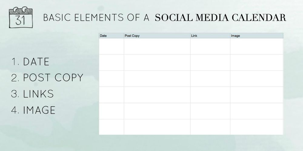 Basic Elements of a Social Media Calendar | Kayla Hollatz