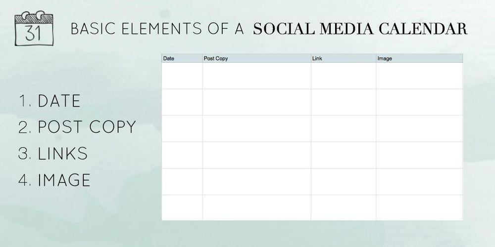 Basic Elements of a Social Media Calendar | Kayla Hollatz