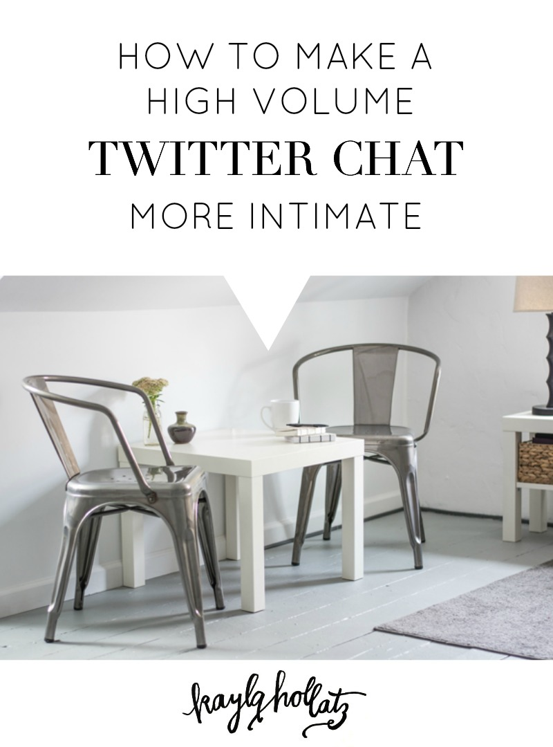 How to Make a High Volume Twitter Chat More Intimate | Kayla Hollatz: Community Coach for Creatives
