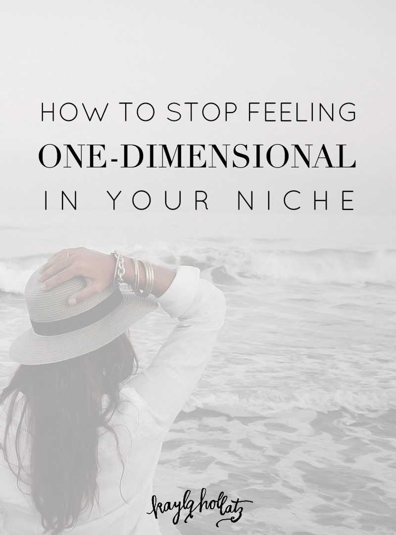 How to Stop Feeling One-Dimensional in Your Niche | Kayla Hollatz: Community and Brand Coach for Creatives