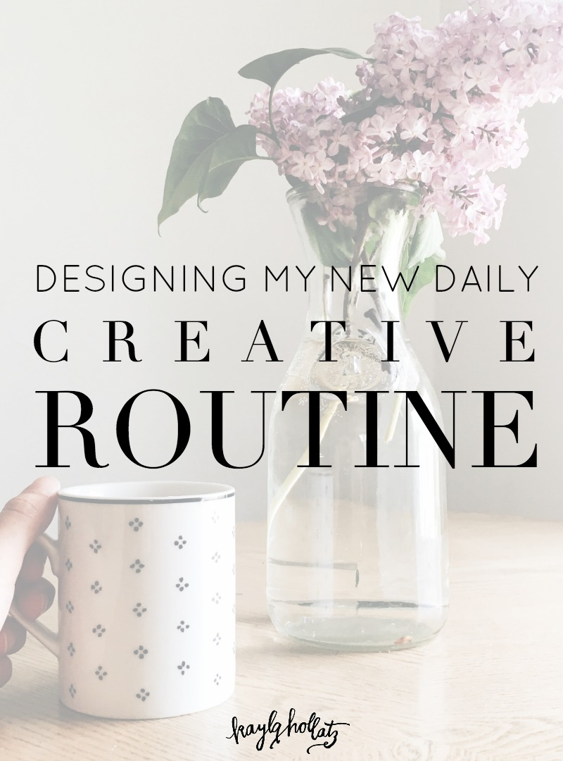 Designing a new creative routine for creative bloggers and entrepreneurs