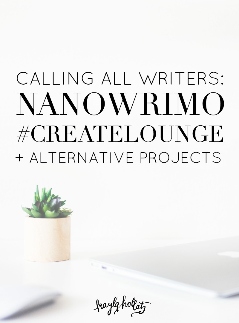 Ready to write? Join our #createlounge community for NaNoWriMo this November!