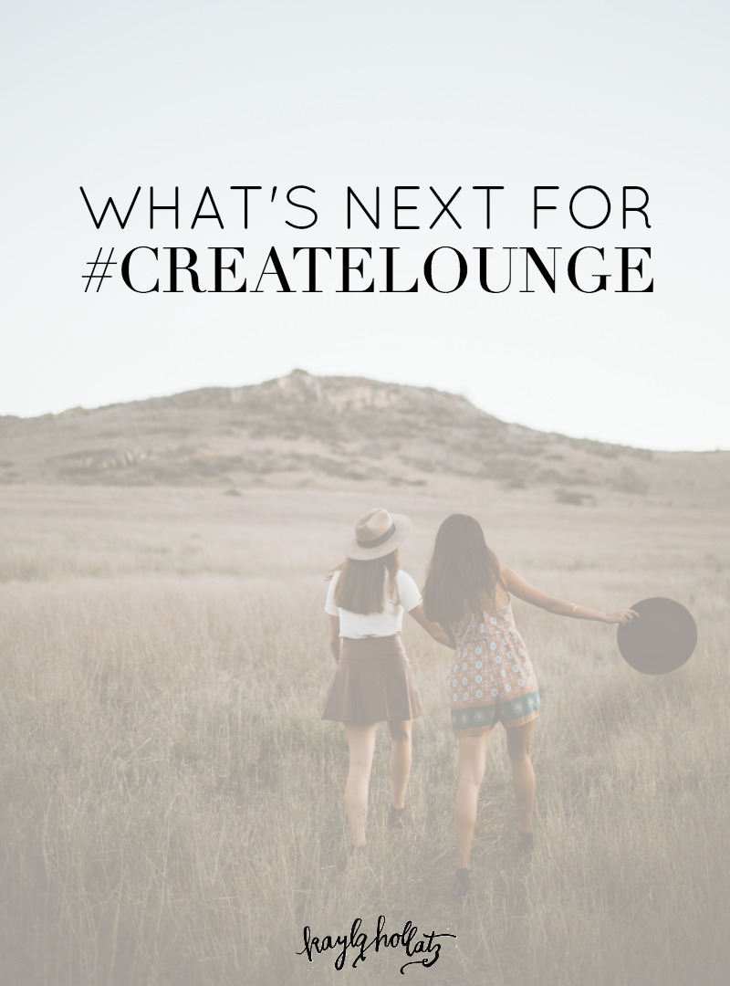 Check out what's coming soon for our collective of creative bloggers and entrepreneurs! #createlounge