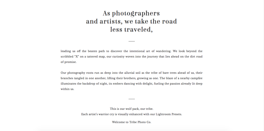 Website-Copywriting-Tribe-Photo-Co