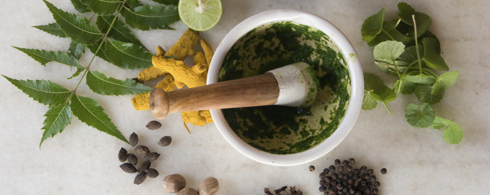 Ayurveda uses whole foods and herbal therapy to maintain good health