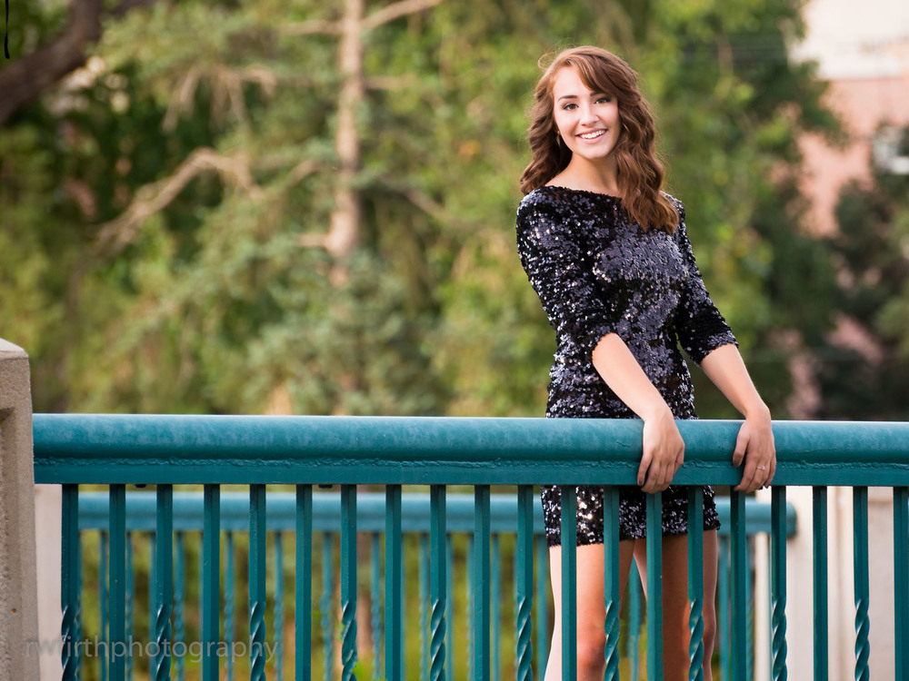 High school senior Morgan during a senior photography session in 2014.  The venue for this session was the City of Colorado Springs demonstration gardens.  Photo by Richard Firth, R.W. Firth Photography.