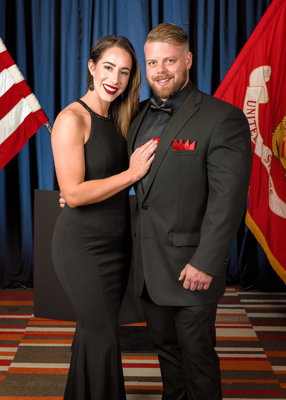 Couple's Portrait at the 2018 Marine Corps Birthday Ball, Denver Tech Center, Denver, CO