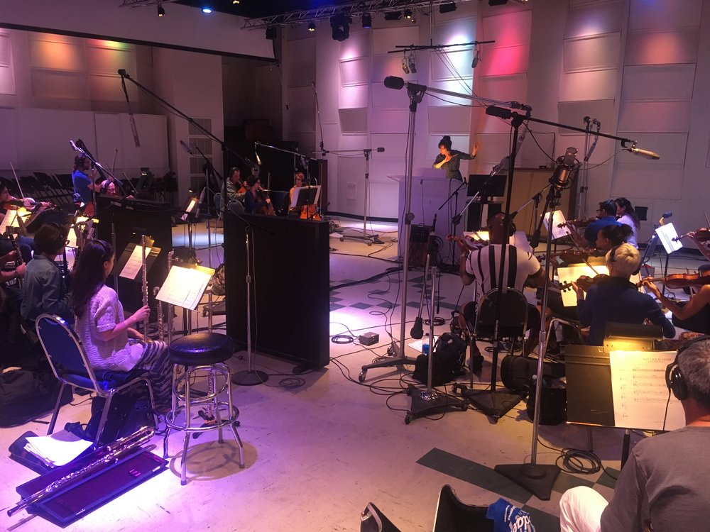 with Studio Orchestra,  East West Studios , LA 2017  (Orchestrator, Conductor)