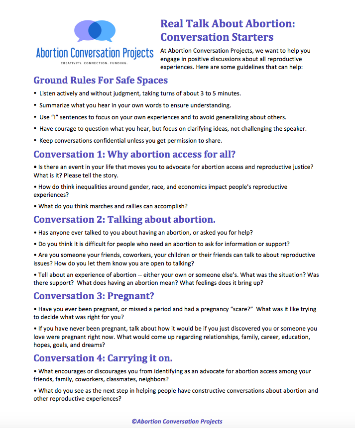 Download a short or long version of these conversation starters using the links at the bottom of this page.