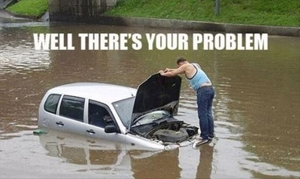 What happens when your car gets water damage?  Does your car insurance cover that?  Better yet, how do you prevent the damage from happening in the first place?