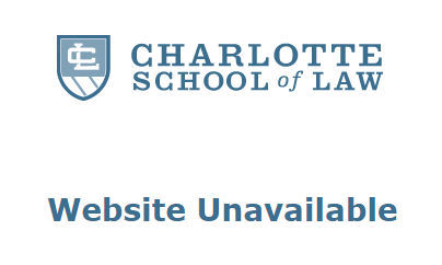This is the image that visitors to Charlotte School of Law's website are seeing today.