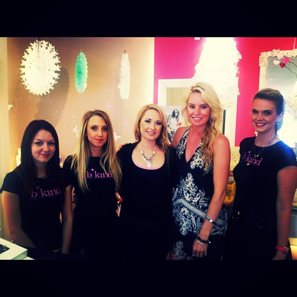 The bkind team during a product launch for indah