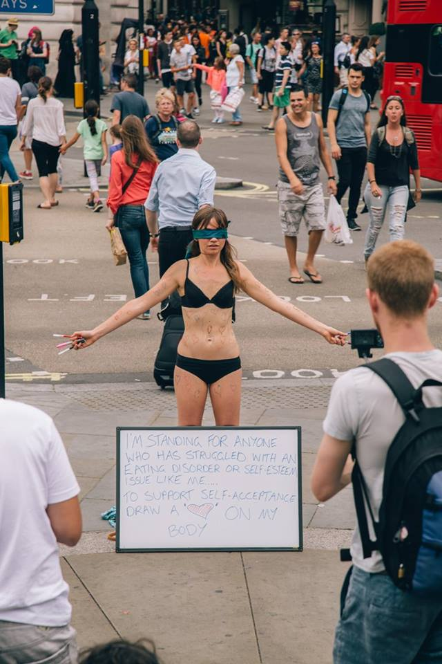 girl undresses in public - liberators international