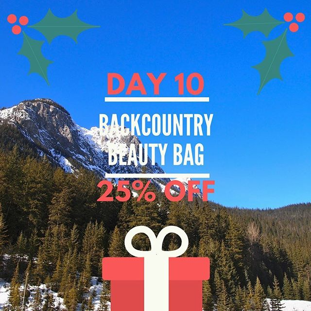 *TODAY ONLY* Backcountry Beauty Bags are 25% off as part of our #12daysofxmas! 🎄 The bag includes moisturizer with zinc oxide for ☀️ protection, gentle face wash for sensitive skin ✨, and our famous lip balm 😘! Perfect gift for the traveller or outdoorsy lady in your life. Plus it comes in the cutest little muslin bag! Link to shop in profile 👆🏻#Backcountry beauty essentials #christmas #giftgiving #makingshoppingeasy