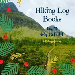 Keep track of all your hikes in 2017 with our Hiking Log Book! Day 11 of our #12daysofxmas features our Hiking Log Book for only $5 each!! 📘✏️ A perfect way to document all your adventures 🌲🏕🗻including what you brought for clothing and food to help you prep for the next adventure. It also includes a packing list and a recipe for home made cliff bars! #backcountrybeautyessentials #christmasgifts #makingshoppingeasy