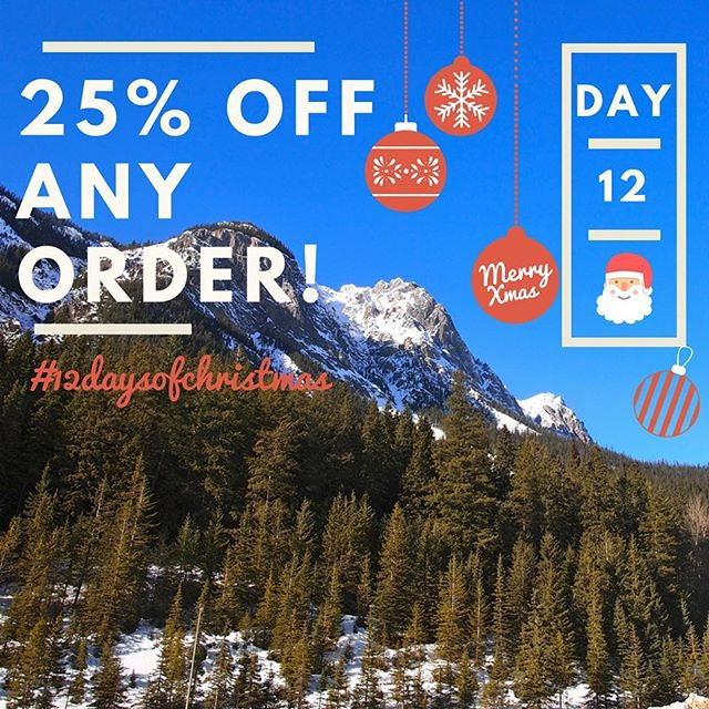 Last day!! 🙌🏻 Day 12 of our #12daysofchristmas 🎅🏻🎄 features ALL of our products! Get 25% off ANY ORDER today only. Merry Christmas and a Happy New Year to all!! 😘  CODE: XMASLOVE25 Link to shop in bio 👆🏻#12daysofchristmas #beautyinthebackcountryessentials #allnatural #lovetheoutdoors