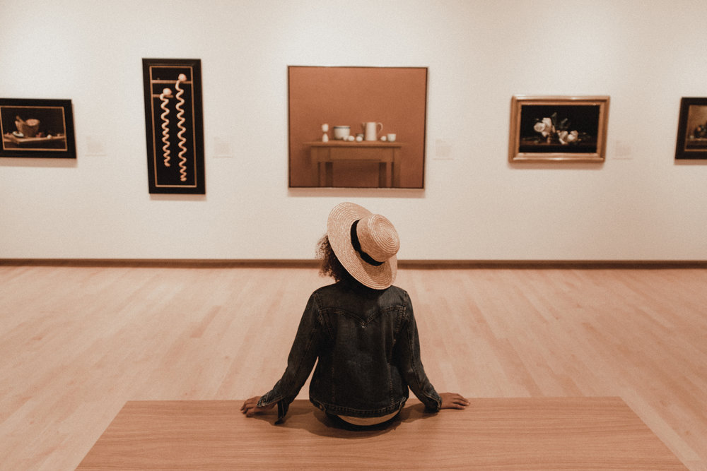 up next was the  tacoma art museum — i'm usually not much of a museum gal, but i loved looking at all the landscape paintings! such a different perspective to see a painting vs. a photo on instagram!