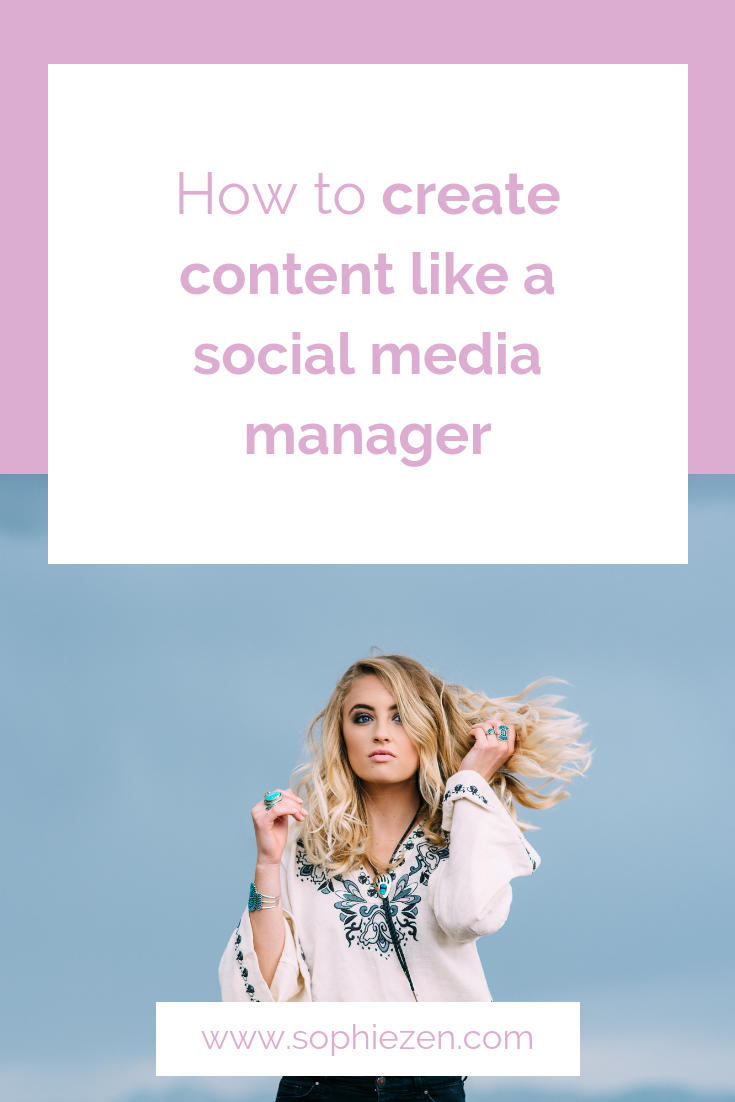 How to create content like a social media manager