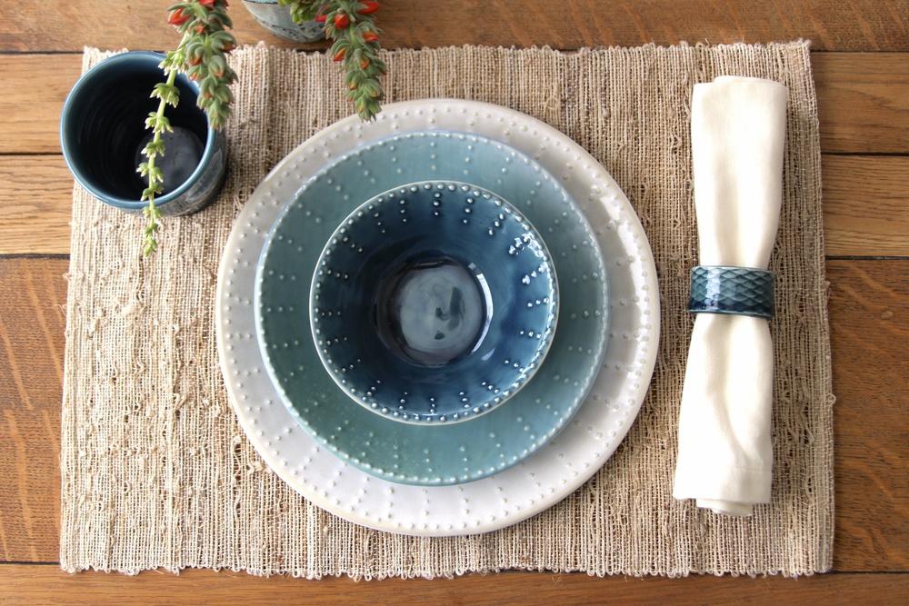 Blue Ombre Dinnerware Set