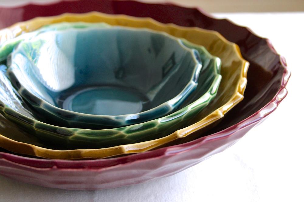 Carved Nesting Bowl Set