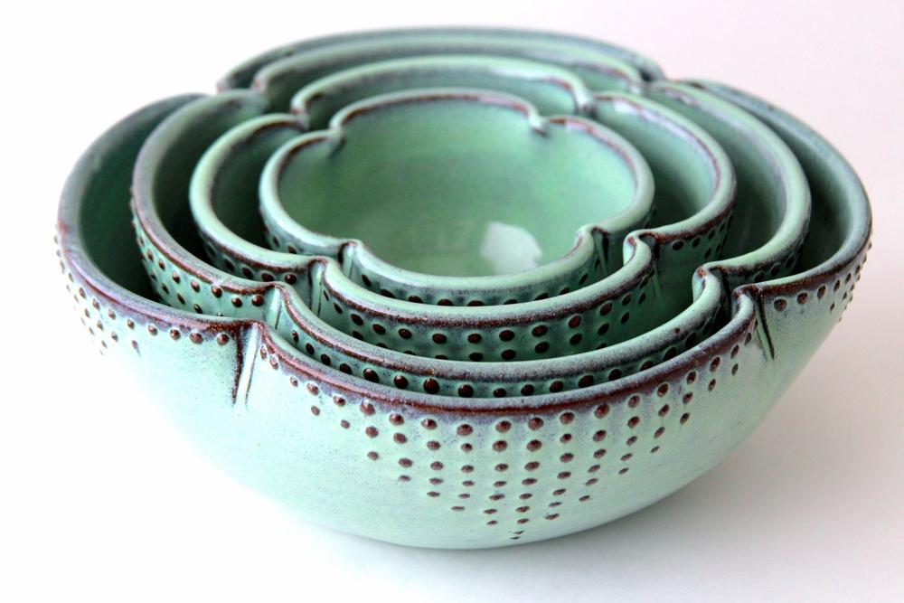 Nesting Bowl Set in Aqua Mist