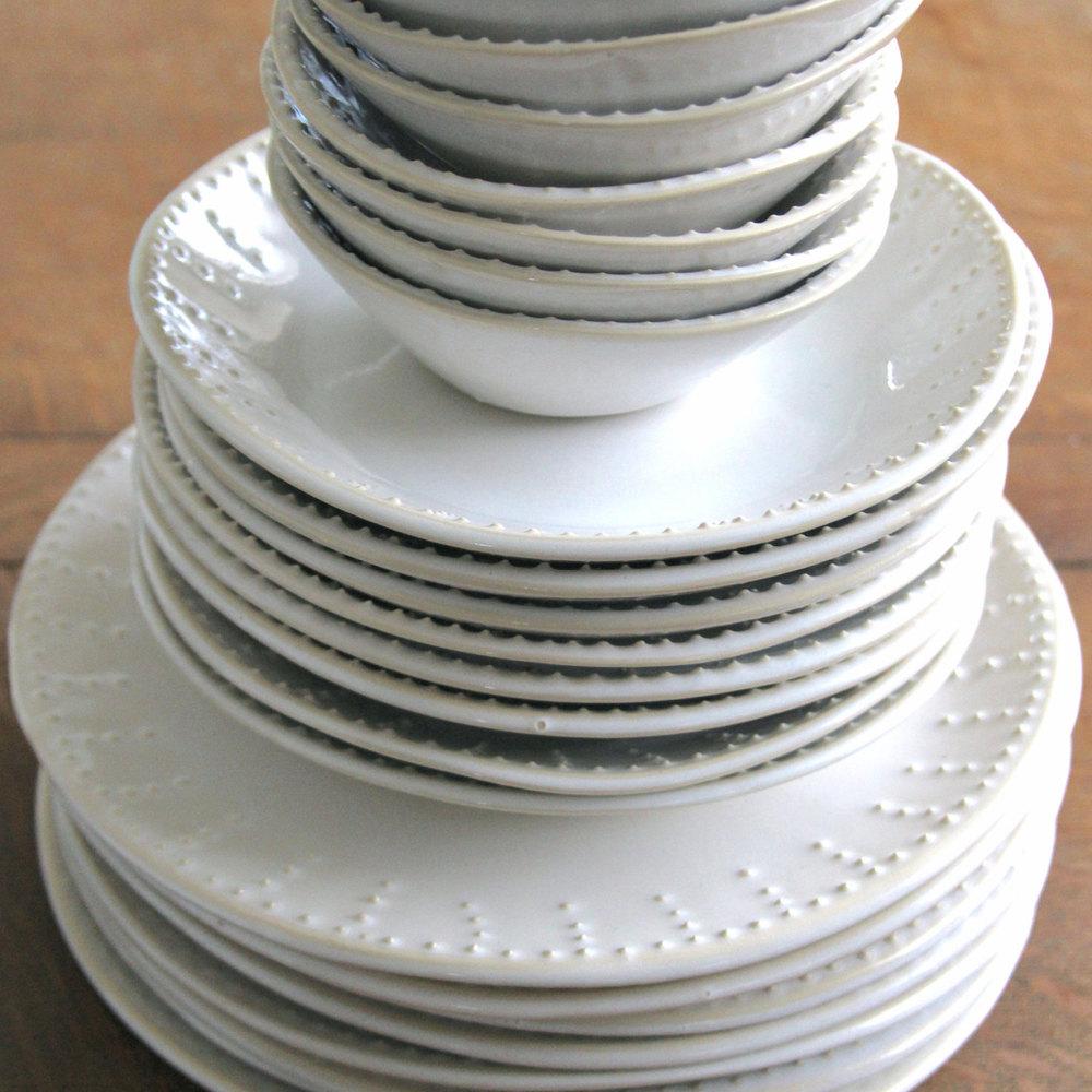 Handmade Dinnerware in Creamy White