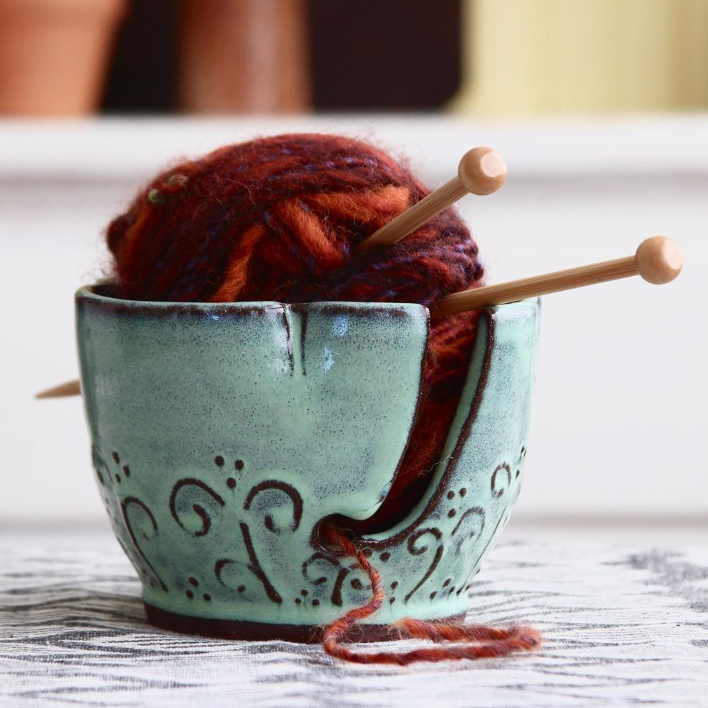 Yarn Bowl in Aqua Mist
