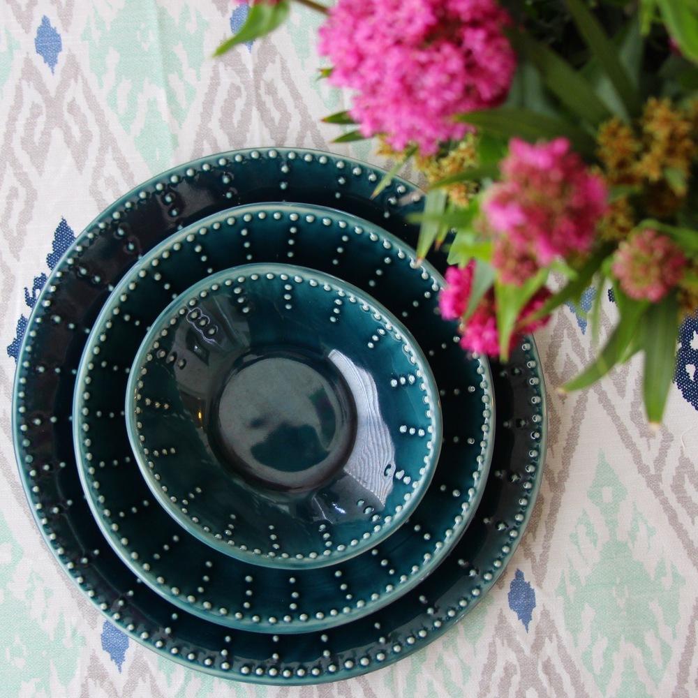 Deep Sea Blue Dinnerware