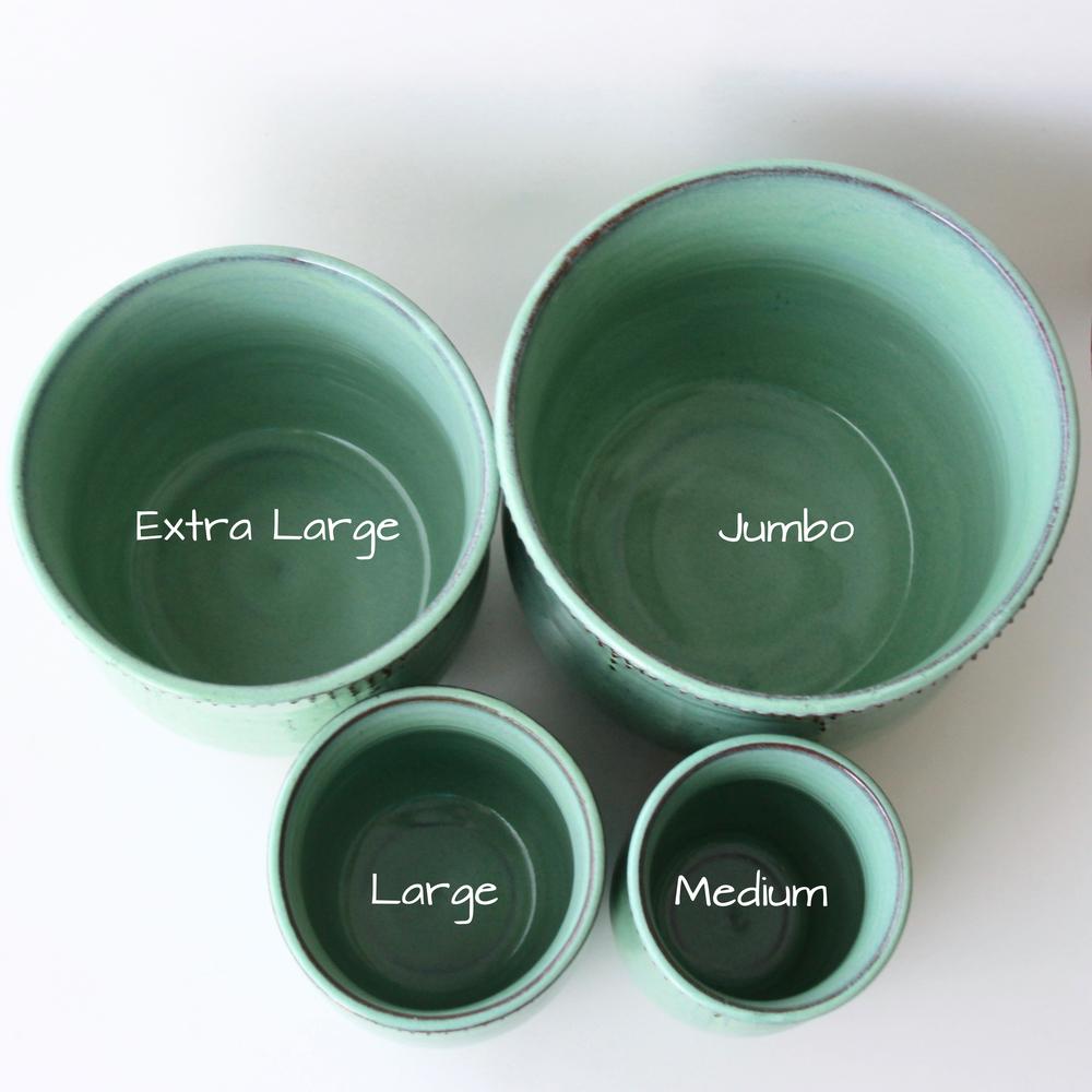 Medium Utensil Holder / Vase, Aqua Mist