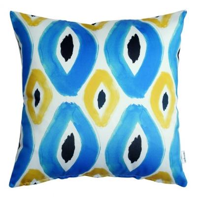 Rhombvs Blue Cushion