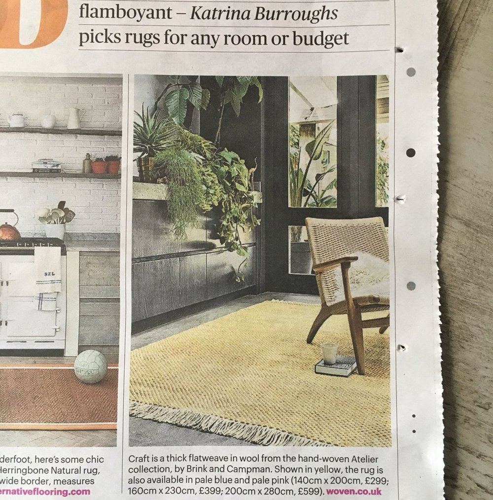 The Atelier Craft, as seen in the Sunday Times