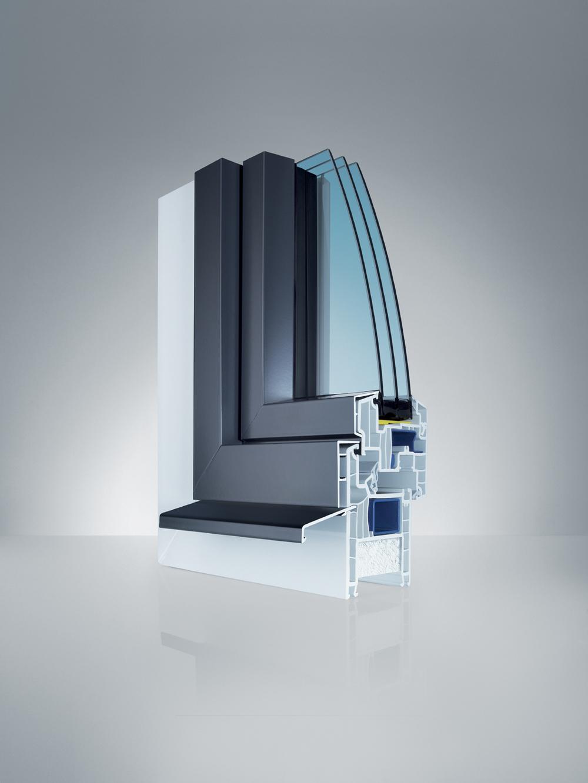 Profil Vollrahmen AS1 - Kunststoff/Aluminium