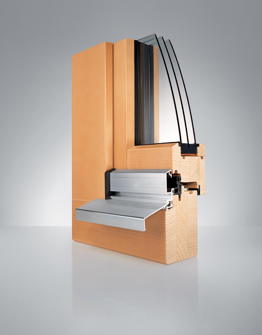 Profil Holz-Fenster WS1 vollflächenverseetzt