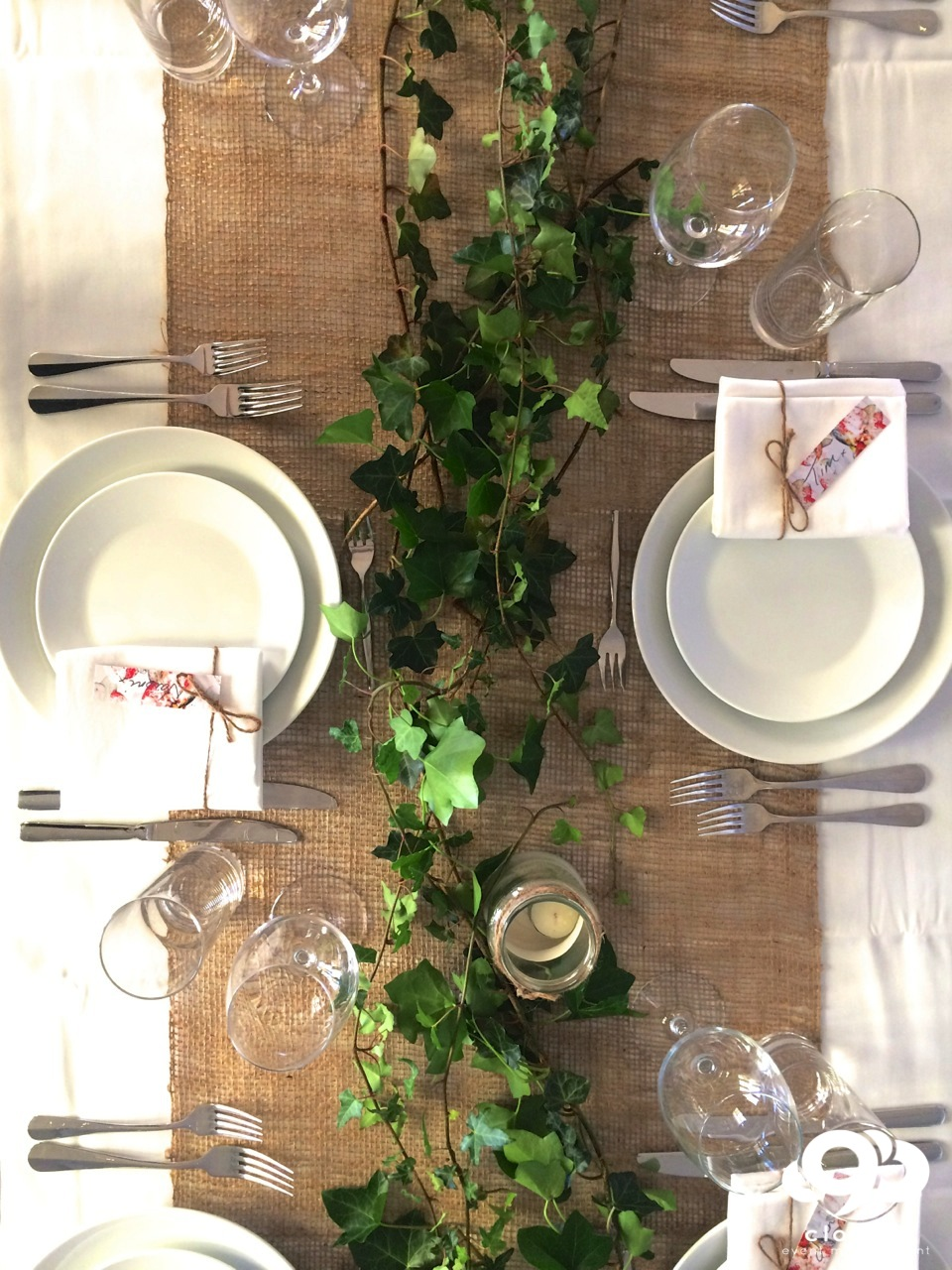 Table Setting : rustic style