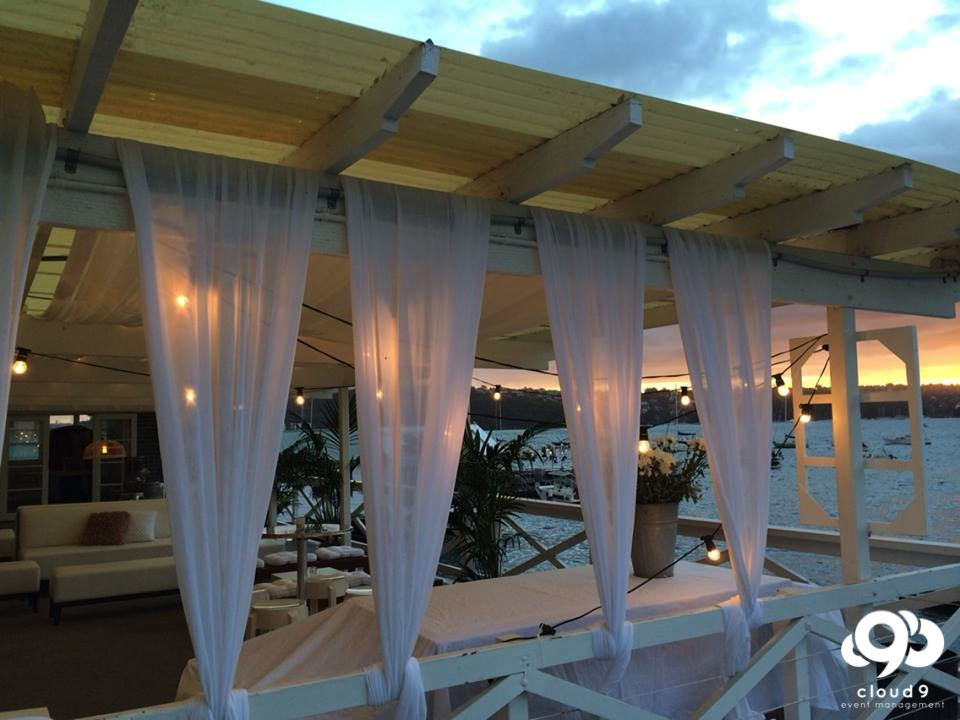 Sunset Wedding Reception - Balcony reception