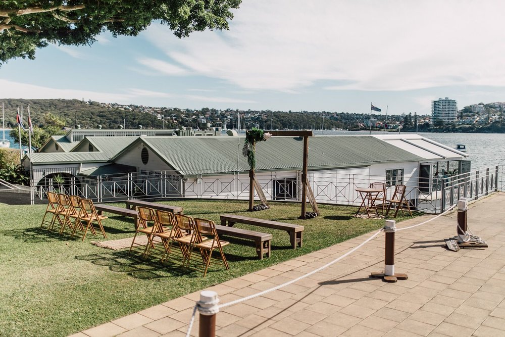 Manly Skiff Club Wedding Ceremony
