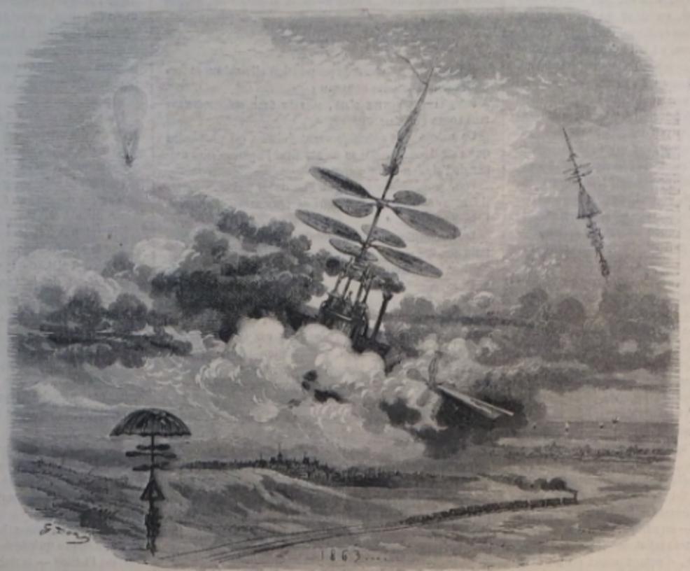 L'Aéronaute,  1863   (Bibliothèque Historique de la Ville de Paris).